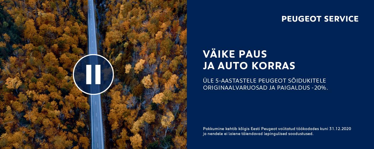 Üle 5-aasta vanustele Peugeot sõidukitele originaalvaruosad ja paigaldus -20%